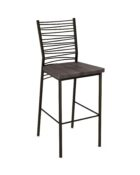 crescent wood stool